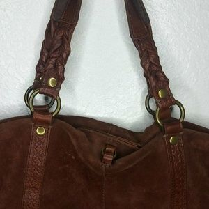 Fawn Suede lucky brand purse